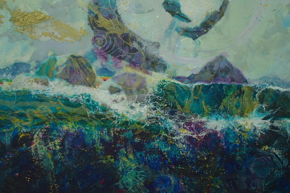 Acrylic mixed media-Abstract-Yvonne-Maximchuk